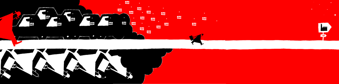Chapeau bas, notre homme voit rouge ! (3 illustrations côte à côte)