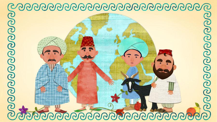 Nasreddine et les villageois